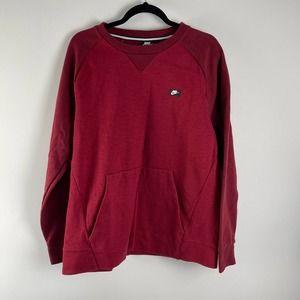 NIKE Sportswear Optic Crew Sweatshirt Maroon L